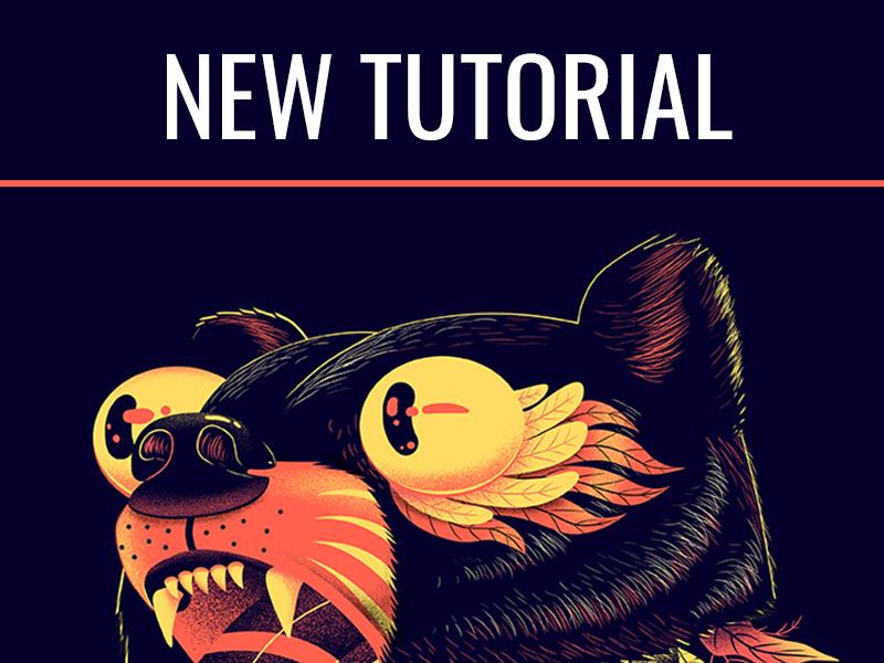 Winner of Communication Arts 2018 - Tutorial firecamp blog bear tshirt print design poster tutorial illustration