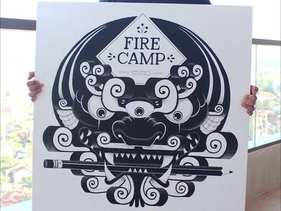 FireCamp Painting Process draw pen posca artist artwork drawing art painting illustration