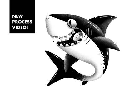 Shark Drawing Process with Procreate tutorial process drawing procreate shark character illustration