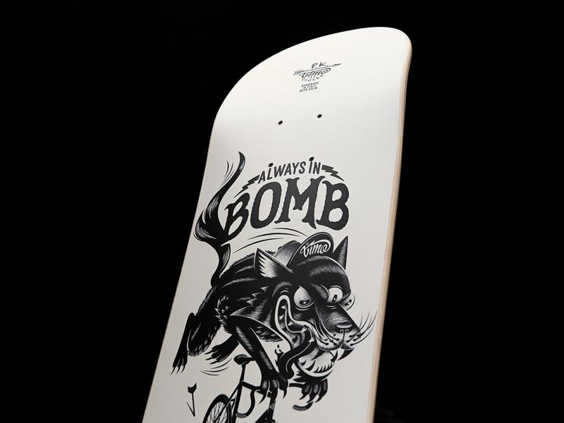 Skateboard art for Missaid