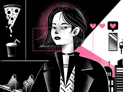 Girl & Dog (illustration process)