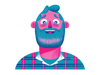 Character Illustration Process drawing ipad procreate character design blue beard man character illustration