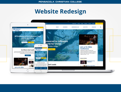 Website Redesign - Pensacola Christian College redesign web design website landing page adobe xd ux ui