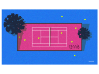 mood - childhood. (tennis court)