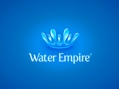 Water Empire logo logotype water emblem drops crown identity design logodesign orangelable