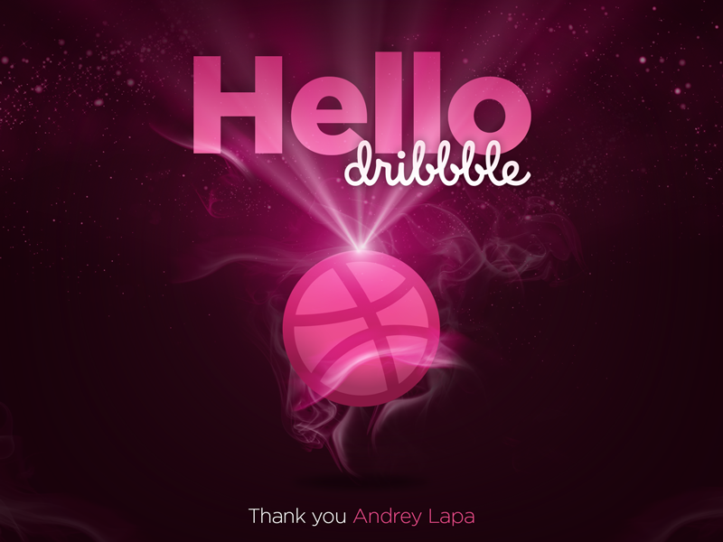 Hello Dribbble! thank you arts invite design dribbble hello