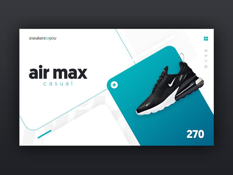 Air Max 270 webdesign site site design sneakers concept uidesign ux design ui ux nike air max airmax 270 nike