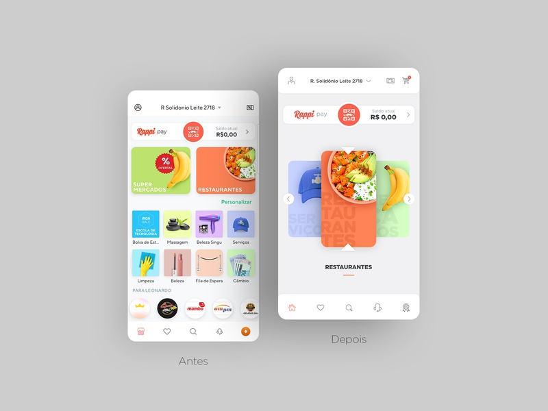Redesign Rappi App inspiration redesign rappi food app mobile ux ui design 2019