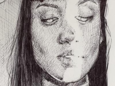 ink sketch fine art illustration ink drawing art