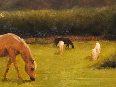 horse landscape painting landscape fine art art