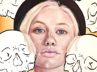 Modskull drawing painting art design oil painting portrait illustration fine art