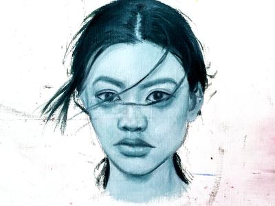Dirty Portrait monochromatic ascetic painting design portrait oil painting drawing illustration fine art art