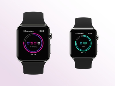 Day 14 - Countdown nye christmas countdown watch apple applewatch app adobexd uxdesign 100daychallange uidesign