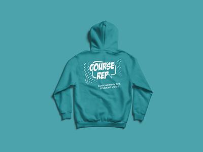 Course Rep Hoodie popart repeat university vector screenprint hoodie logo brand illustration