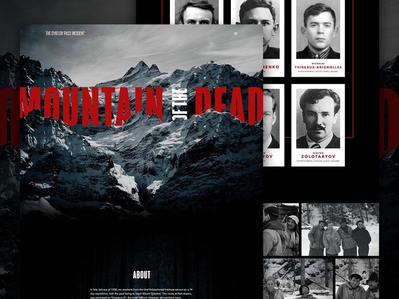 Mountain of the Dead | The Dyatlov Pass Incident designs snow mountains webdesign photoshop halloween mocktober