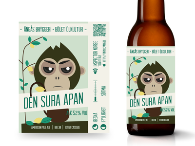 Beer Label - The Grumpy Monkey