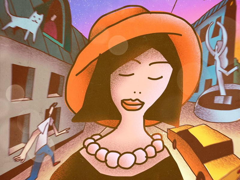 Portrait girl characterdesign character vectorillustration illustration vector stranger portrait