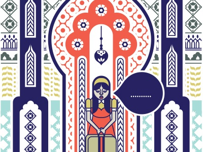 Editorial life magazine illustration vector editorial girl travel suitcase pattern