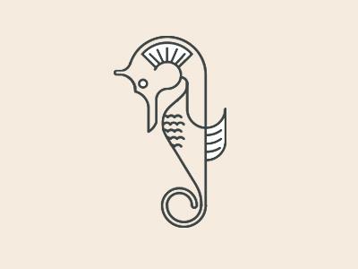Folklore Icon seahorse nature graceful calm sea creature fish