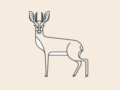 Folklore Icon steenbok buk deer horned animal nature