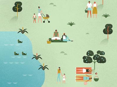 Kirstenbosch postcards cape town holidays ducks pond relaxation trees grass leisure botanical garden park