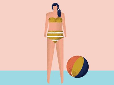Summer in Cape Town bikini swimming beach ball hot beach gift tag sea cape town summer