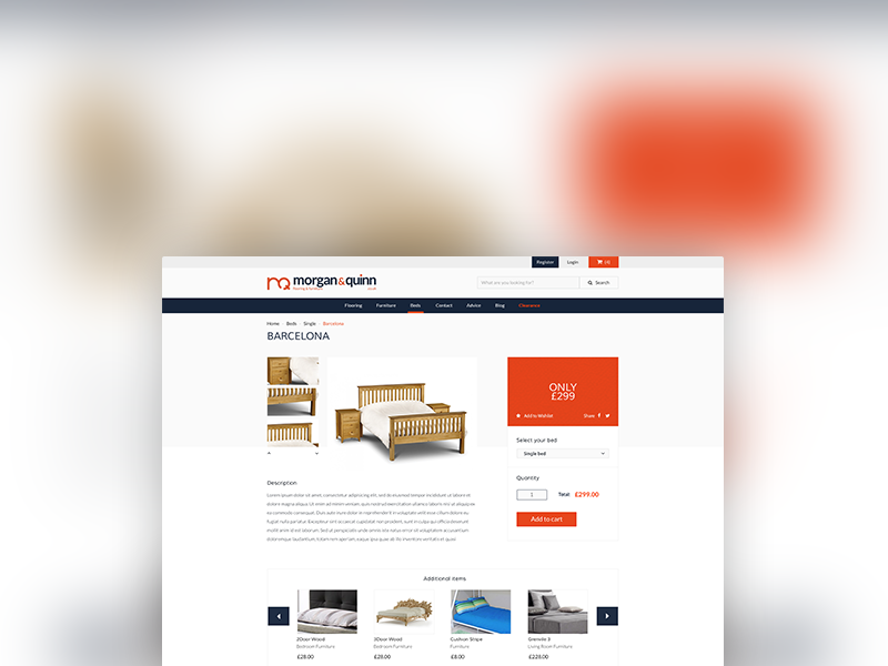 Buy a bed ecommerce best practice ui erb buy store shop furniture