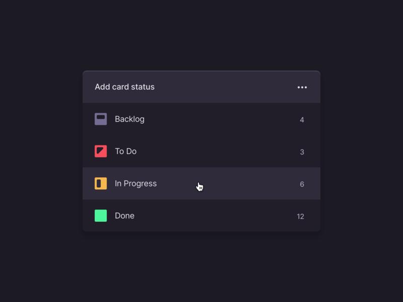 Add card status screen in dark mode