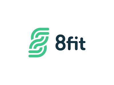 8fit logo brand logo startup app fitness 8fit