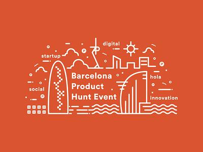 BcnProductHuntEvent skyline event barcelona product hunt
