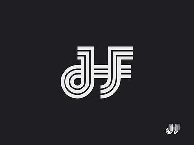 HF monogram logo symbol hf