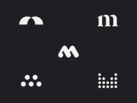 m logotipo circle symbol logotype brand m logo