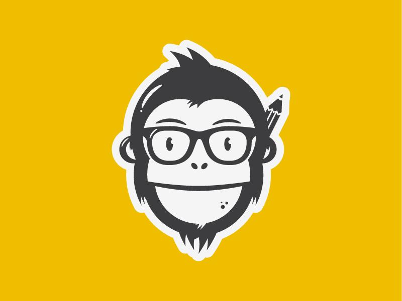 Nelson the chimp monkey chimp logo yellow brand