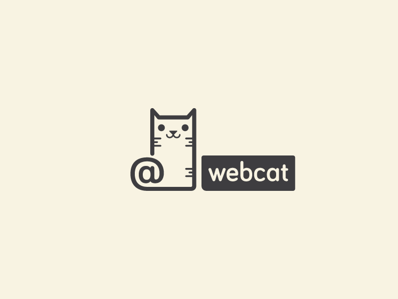 Webcat logo cat web webcat arroba at logotype logotipo brand