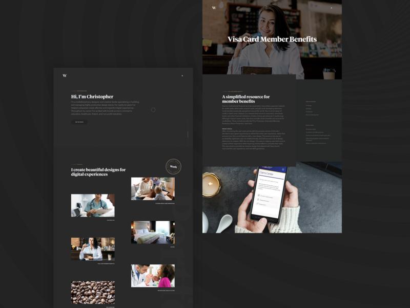 CW4 website ux ui ui design tiempos dark mode avenir portfolio grey ux design