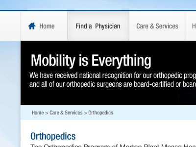 Orthopedics blue nav black grey