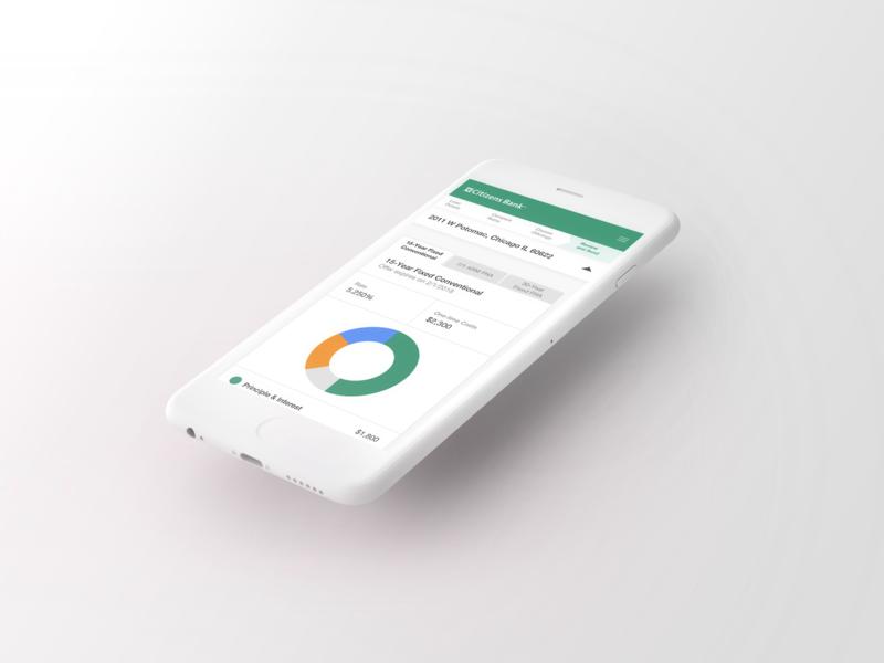 Loan - Mobile donut chart chart mobile ui mobile app