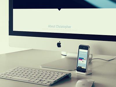 Soon responsive ui kulturista proxima nova blue grey web portfolio html5 css3 mobile iphone imac