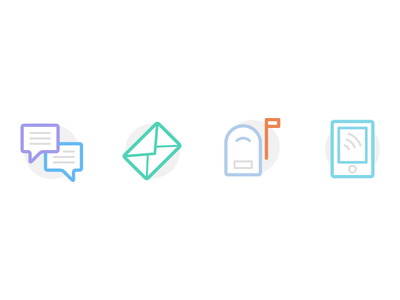 Communication Icons round message icons flat email chat mail phone contact