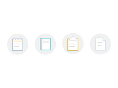 Document Icons icons flat notepad note document page clipboard book
