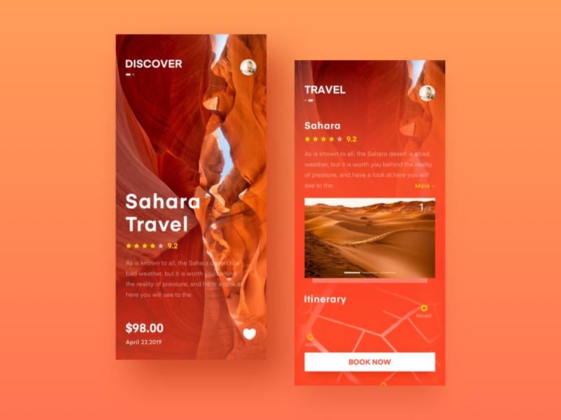 Travel app ui ux design icon app