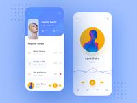 music player app mobile ux ui icon design app