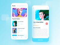 Reading app mobile ux ui icon design app