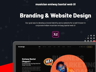 Free Download Musician Emiway Bantai web UI download free freebie freebies design branding website ui devdesign concept typography web application artist musician audio band dj events