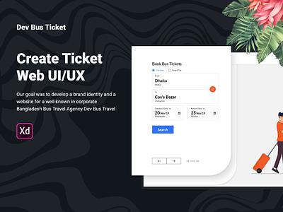 Free Dev Bus Ticket Web UI studio ux download free freebie freebies ticket design branding website ui devdesign concept grid typography web application minimal trendy