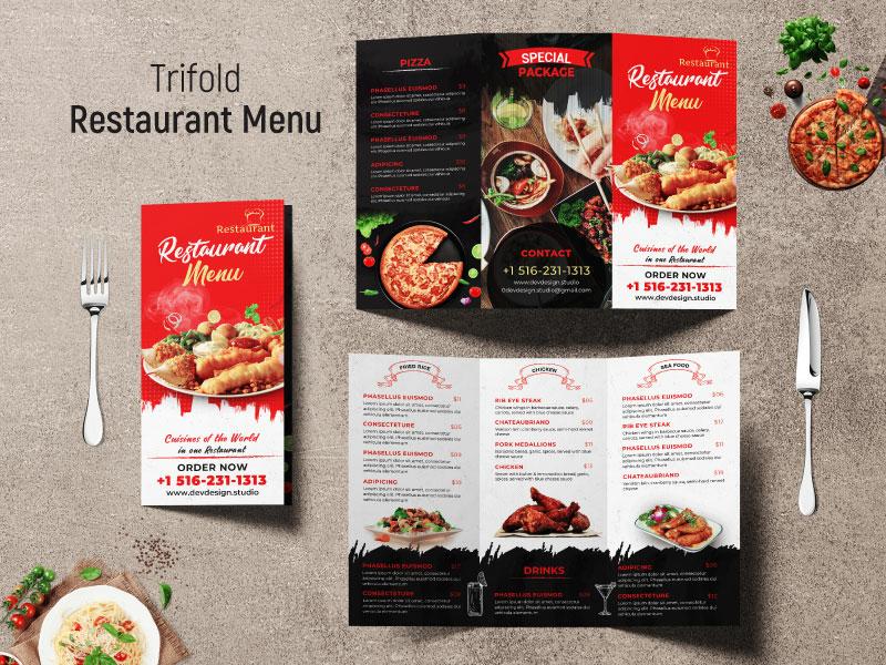 restaurant menu trifold by dev design studio dribbble dribbble