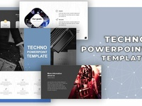 PowerPoint  Techno-Template [PPTX]