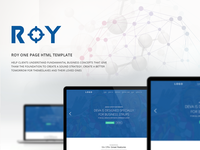 Roy One Page HTML Template