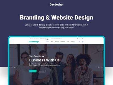Free Devdesign Landing Page Ui