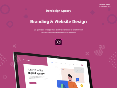 Free Devdesign Agency XD UI Website Template